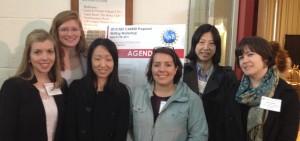 Left to right: Kelly Stephani, Shelby Hutchens, Yuhang Hu, Mariana Kersh, Wenjuan Zhu (ECE), Alison Dunn
